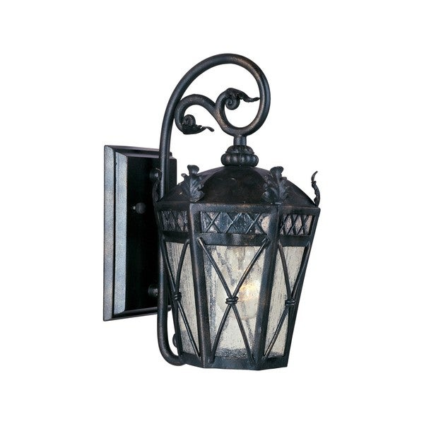 Forged Iron Shade Canterbury 1-light Outdoor Wall Mount