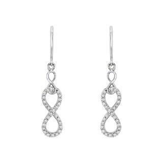 10k White Gold 1/5ct TDW Diamond Infinity Earrings (J-K,I1-I2)