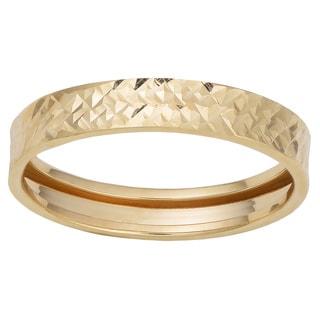 Fremada 10k Yellow Gold Diamond-cut Band