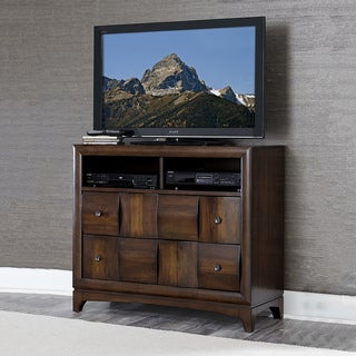 Darian Classic Medium Walnut 2-shelf 2-drawer TV storage Chest