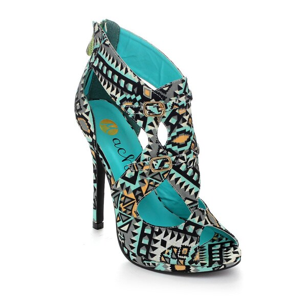 Machi Women's Jowild Peep Toe High Heels