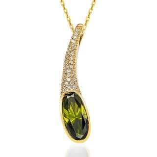 Suzy Levian Sterling Silver18k Gold Cubic Zirconia Necklace