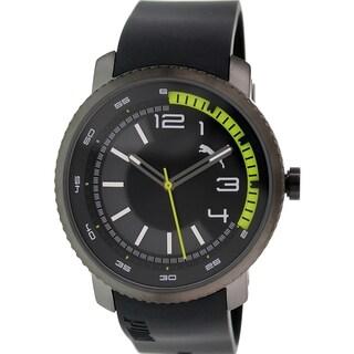 Puma Men's Motorsport PU103291001 Black Rubber Analog Quartz Watch