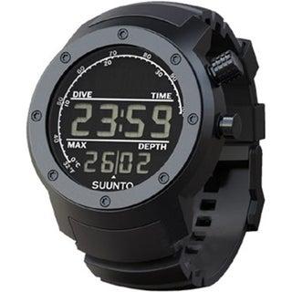 Suunto Men's Elementum Aqua Black Rubber/Dark Face SS014528000 Silvertone Aluminum Quartz Watch