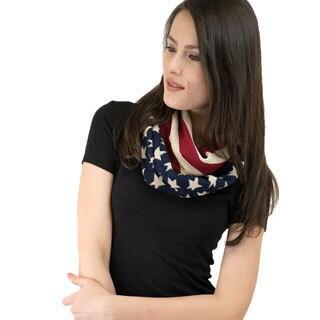 Le Nom Women's Amerian Flag Infinity Scarf