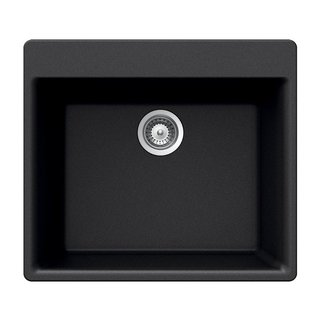 Houzer Drop-in Granite 20.870 23.620 GEMON-100NERO Nero Kitchen Sink