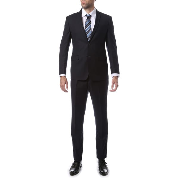 Zonettie-Ferrecci Mens Slim Fit Solid Suit