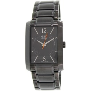 Esq Men's Synthesis 07301411 Black Stainless Steel Swiss Quartz Watch
