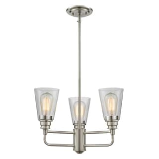 Z-Lite Annora 3-light Brushed Nickel Clear Glass Chandelier