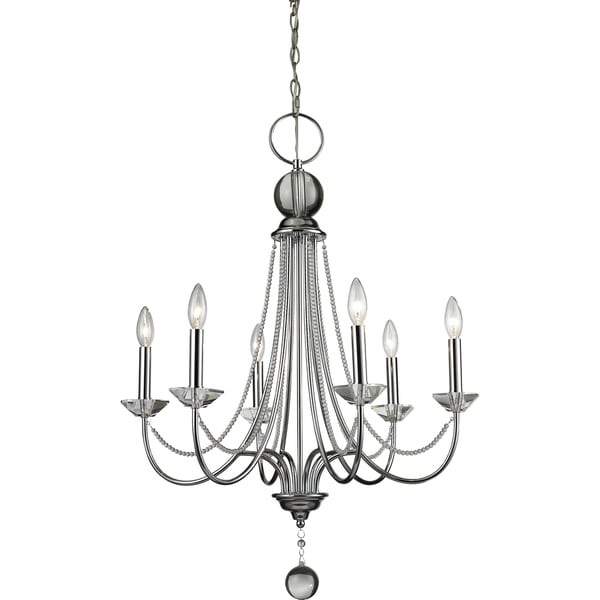 Z-Lite Serenade 6-light Clear Chandelier