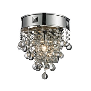 Z-Lite Iluva 1-Light Crystal and Chrome Wall Sconce