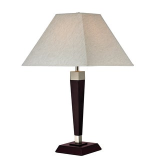 Z-Lite 1-Light Mahogany Table Lamp