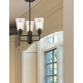 Z-Lite Annora 3-light Olde Bronze Clear Glass Semi-Flush Mount