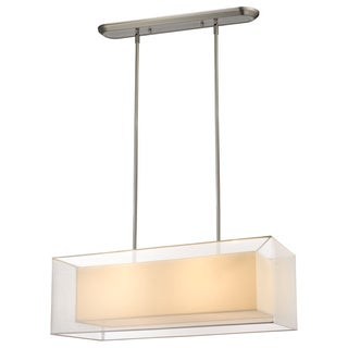 Z-Lite Sedona 4-light White Island/ Billiard Light