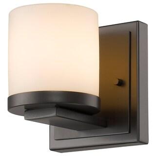 Z-Lite Nori 1-light Bronze Matte Opal Glass Shade Wall Sconce