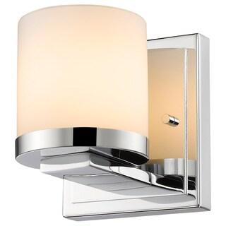 Z-Lite Nori 1-light Chrome Matte Opal Glass Shade Wall Sconce