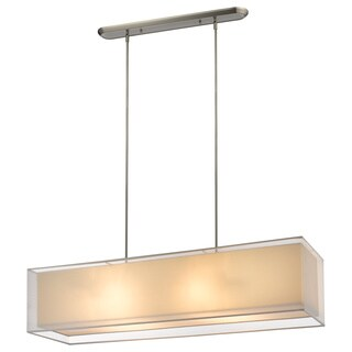 Z-Lite Sedona 4-light White Brushed Nickel Island/ Billiard Light