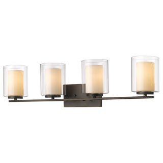 Z-Lite Willow 4-light Inner Matte Opal and Outer Clear Vanity