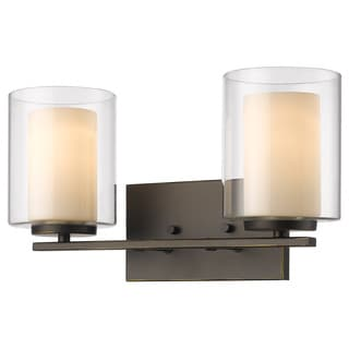 Z-Lite Willow 2-light Inner Matte Opal and Outer Clear Vanity