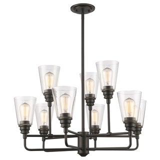 Z-Lite Annora 9-light Olde Bronze Clear Chandelier