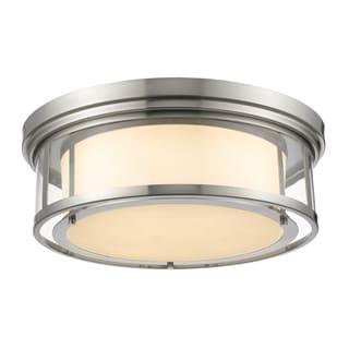 Z-Lite Luna 4-light Matte Opal Glass Shade Flush Mount