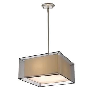 Z-Lite Sedona Black 3-light Brushed Nickel Pendant