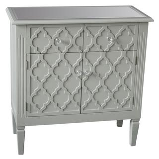 Sophia Grey Cabinet with Pattern Front