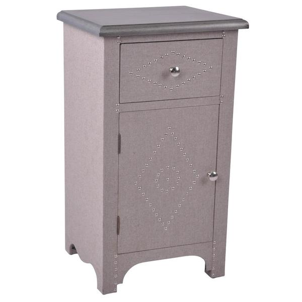Oxford Taupe Accent Table with Stud Detail