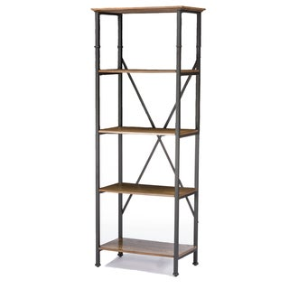 Lancashire Wood & Metal Bookcase