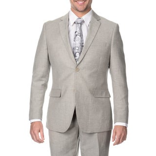 Reflections Men's Tan 2-button Linen Suit