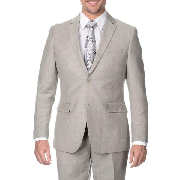 Reflections Men's Tan 2-button Linen Suit 14999633