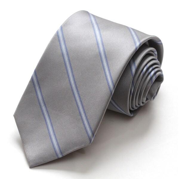 Alara Grey Modern Width Silk Tie