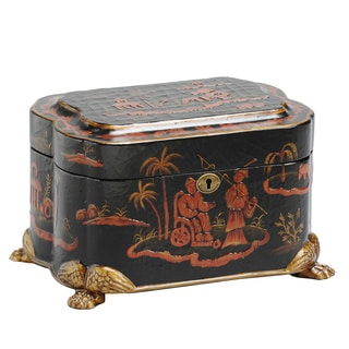 Asian Inspired Claw Foot Dynasty Memory Life Chest
