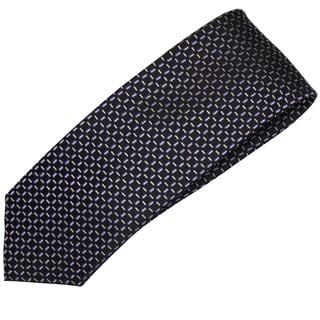 Alara Black and Purple Modern Width Silk Tie