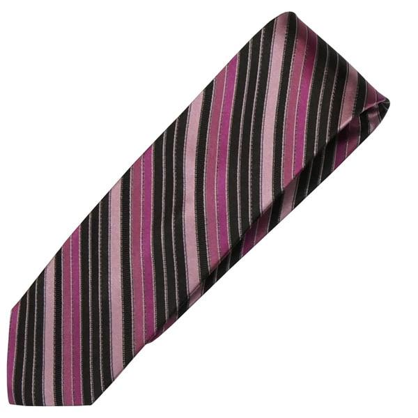 Alara Black and Pink Narrow Width Silk Tie
