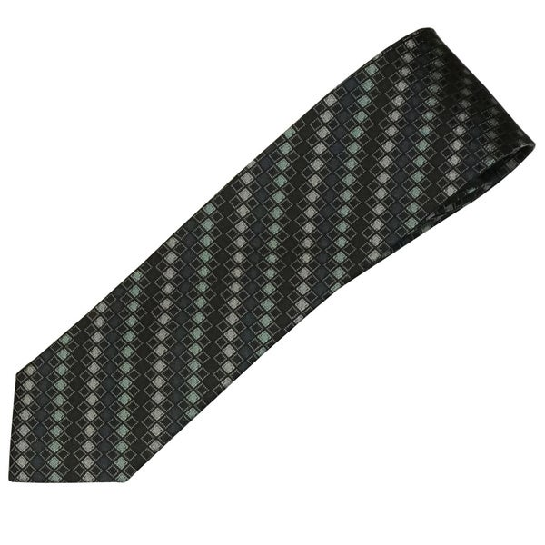 Alara Black and Green Narrow Width Silk Tie
