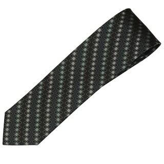 Alara Black and Green Narrow Width Silk Tie