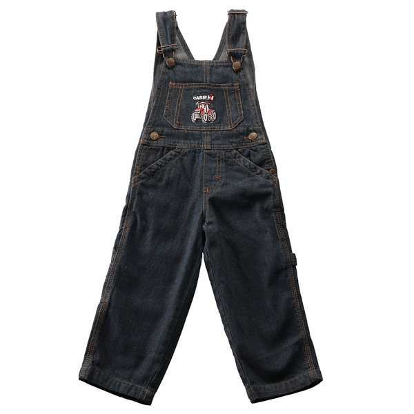 Case IH Toddler Indigo Blue Denim Bib Overalls