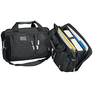 Goodhope Black Expandable Soft Briefcase