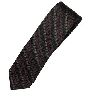Alara Black and Pink Narrow Width Silk Tie