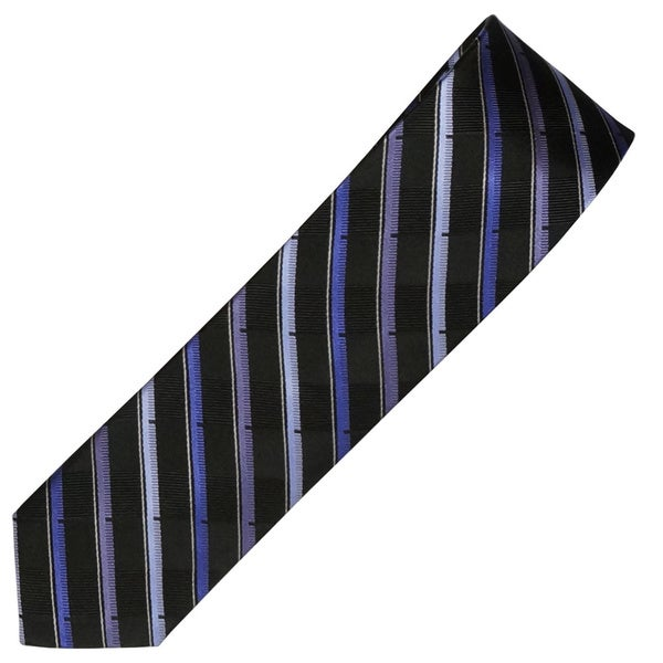 Alara Black and Purple Narrow Width Silk Tie