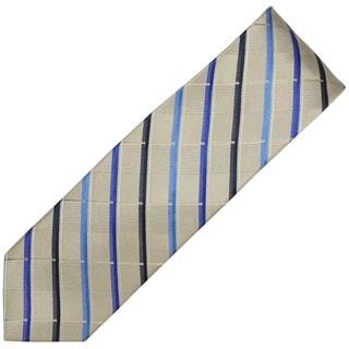 Alara Silver and Blue Narrow Width Silk Tie