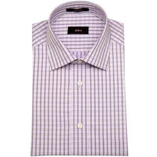 Alara Grape Small Window Pane Dobby Men's Dress Shirt