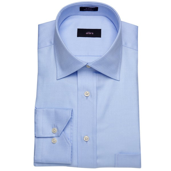 Alara Lux Blue Twill Men's Dress Shirt
