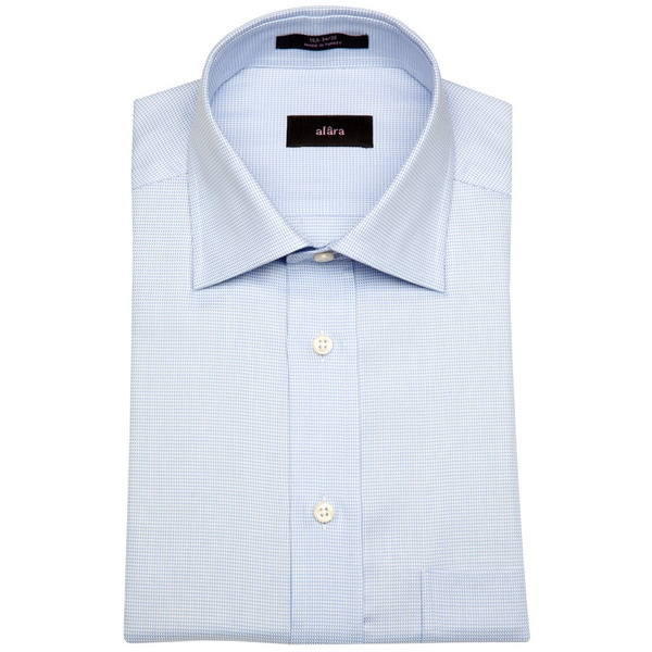 Alara Blue Micro Gingham Men's Dress Shirt