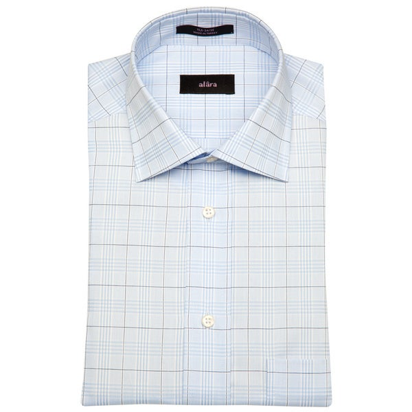 Alara Blue Lux Glen Plaid Men's Dress Shirt