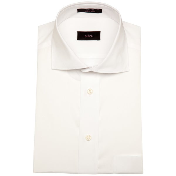 Alara White Royal Poplin Mens Dress Shirt