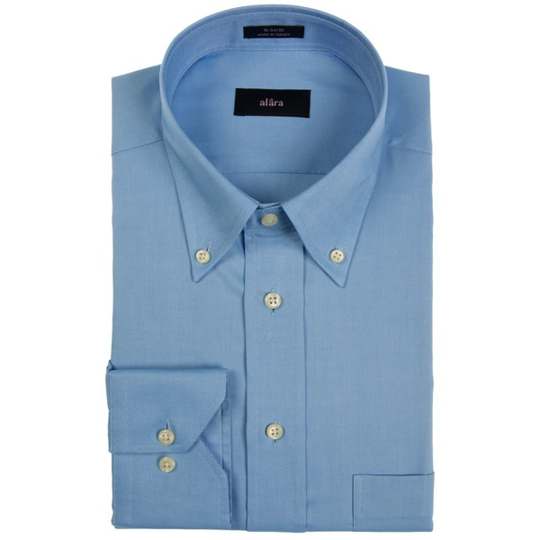 Alara Pinpoint Oxford Blue Button Down Men's Dress Shirt