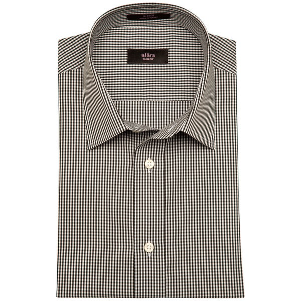 Alara Rich Black Mini Gingham Poplin In Contemporary Collar