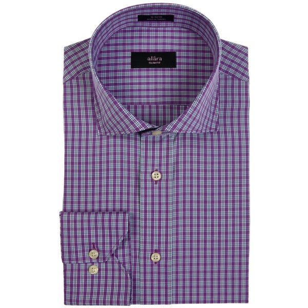 Alara Purple Fine Tattersall Dress Shirt
